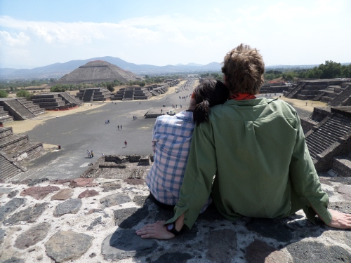 End of day at Teotihuacan